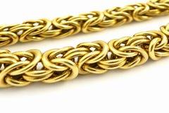 chain guld Royaltyfri Bild