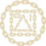 chain guld- bildvektor vektor illustrationer