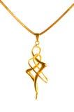 chain guld- hänge Arkivbilder