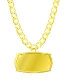 chain guldplattaset Royaltyfri Bild