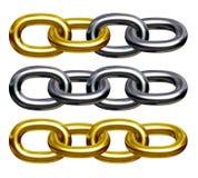 chain guldsilver Royaltyfri Foto