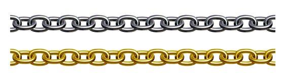 chain guldsilver Royaltyfri Bild