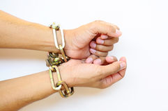 chain händer Arkivbilder