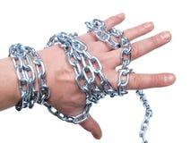 chain hand arkivbilder