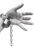Chain on hand Royalty Free Stock Photos