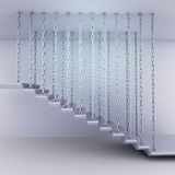 Chain hanged staircase steps side view Royalty Free Stock Photo
