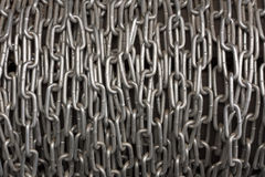 Chain heap metal background texture photo.  Royalty Free Stock Photos