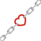 Chain with heart Royalty Free Stock Image