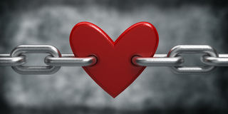 Chain with heart Royalty Free Stock Photo