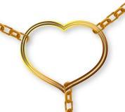 Chain heart breaks Stock Photo