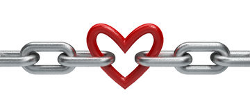 Chain with heart Stock Photo