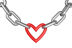 Chain with heart Stock Photos