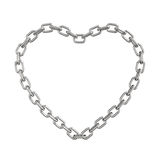 Chain heart isolated on a white background Royalty Free Stock Photo