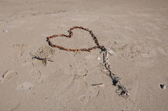 Chain heart Royalty Free Stock Images