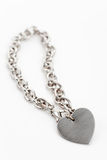 Chain and Heart Shape Royalty Free Stock Images