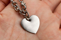 Chain and Heart Shape Royalty Free Stock Image