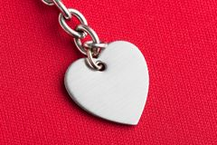 Chain and Heart Shape. Close up royalty free stock photography
