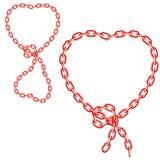 Chain hearts Royalty Free Stock Photo