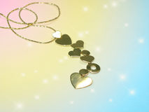 Chain with hearts Royalty Free Stock Photography