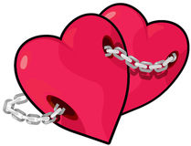 Chain hearts Stock Photography