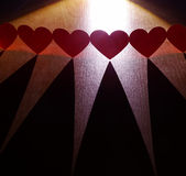 Chain of hearts Stock Photography