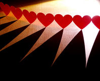 Chain of hearts Royalty Free Stock Images