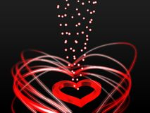 A chain of hearts Royalty Free Stock Images