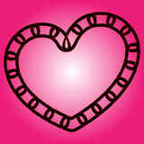 Chain hjärta Arkivbilder