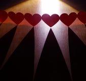 chain hjärtor Arkivbild