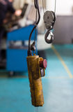 Chain hoist and controller Royalty Free Stock Photography