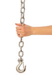 Chain with a hook Stock Image