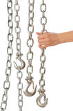 Chain with a hook Stock Images