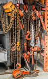 Chain and hook Stock Images
