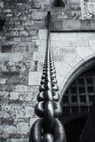 The Chain. A huge strong chain for the drawbridge Stock Photography