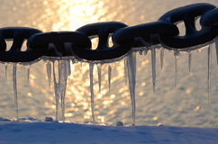 Chain with icicle Stock Photography