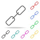 Chain icons. Elements of human web colored icons. Premium quality graphic design icon. Simple icon for websites, web design, mobil. E app, info graphics on white Royalty Free Stock Photos