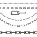 Chain - infinity, curved, link Royalty Free Stock Images