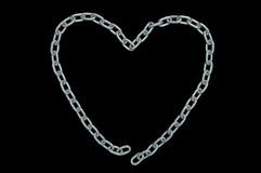 Chain, isolated on black Stock Photography