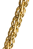 chain isolerat guld- Royaltyfri Bild