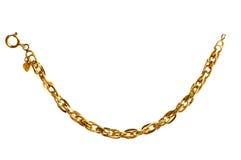 chain isolerat guld- royaltyfria foton