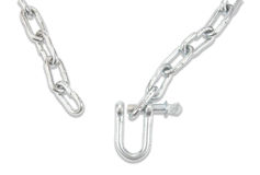 Chain and carabiner Stock Images