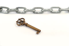 Chain and key Stock Photos