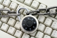 Chain and keyboard Royalty Free Stock Image
