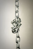 Chain knot old styled. Centered metal chain knot old styled Royalty Free Stock Photography