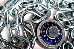 chain kombinationslås Arkivfoton