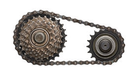 Chain kugghjul Royaltyfri Foto