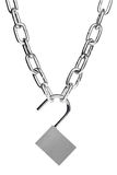 chain lås Royaltyfria Bilder