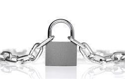 chain lås Royaltyfria Foton