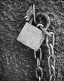 chain lås Arkivfoton