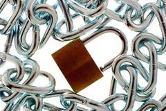 chain lås Arkivfoto